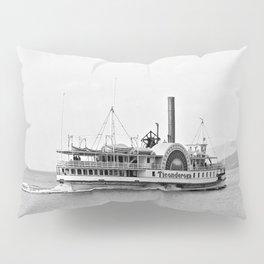 Ticonderoga Side Wheeler Steamboat Pillow Sham