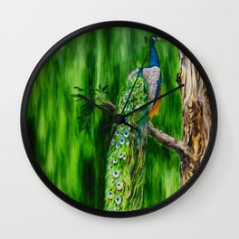 Peacock's Pride by Teresa Thompson Wall Clock