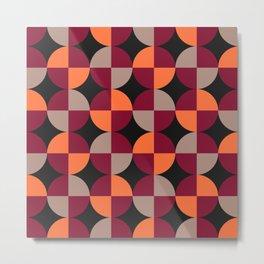 WineRed Squares Metal Print