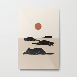 Cat Landscape 69 Metal Print