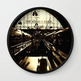Railway Station Cologne (monochrom) Wall Clock