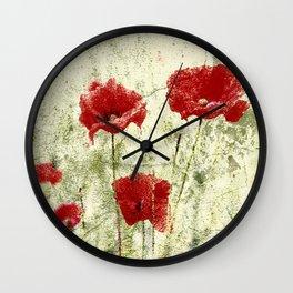 PoppyArt 2 Wall Clock