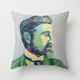 Coloured Roger by Machale O'Neill Throw Pillow