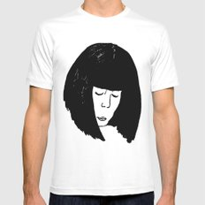 The Thinker MEDIUM White Mens Fitted Tee