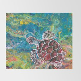 Sea Turtle Dream Throw Blanket