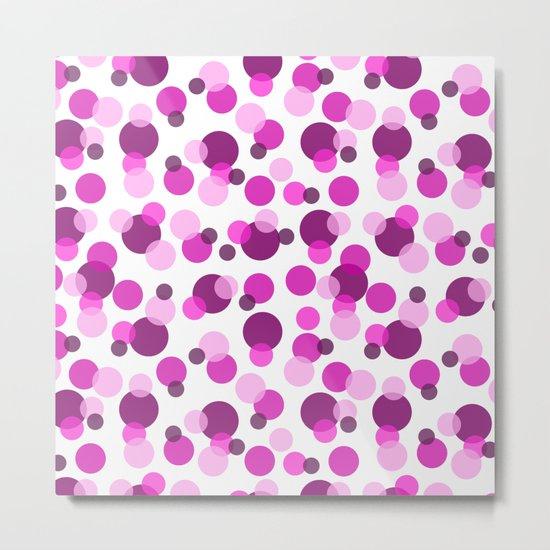 Pink and Purple Spots Metal Print