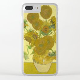 Sunflowers (Vincent Van Gogh series) Clear iPhone Case