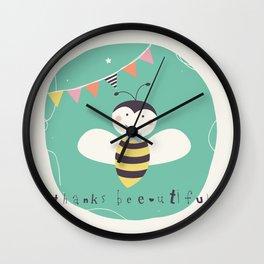 Boris Bee Wall Clock