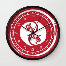 Aquarius Yin Yang Eleventh Zodiac Sign Wall Clock