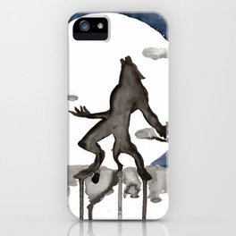 Howling Werewolf Scene iPhone Case