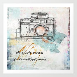 A Picture is a Poem Without Words Art Print