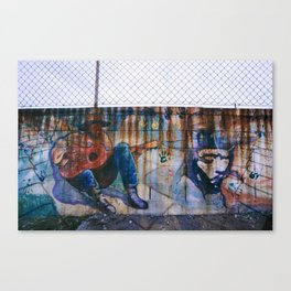 Dripping out me colored rust Canvas Print