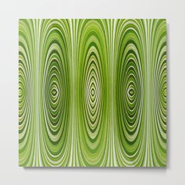 Abstract Green Mod Design 603 Metal Print