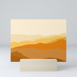 Brown Valley #illustration #drawing Mini Art Print