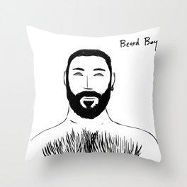 Beard Boy: Emilio 2 Throw Pillow
