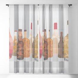 Bottles Sheer Curtain