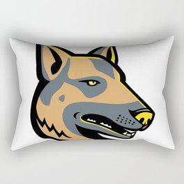 German Shepherd Dog Mascot Rectangular Pillow