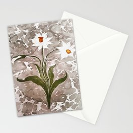 Narcissus On Marble Stationery Cards