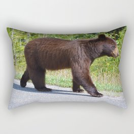 The happiest bear in Jasper National Park Rectangular Pillow