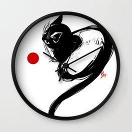 cat No1 Wall Clock