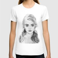 cara delevingne T-shirts featuring Cara Delevingne by sunshinegirldraws