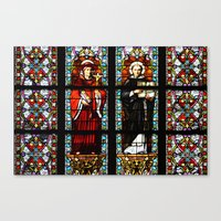 stained glass Canvas Prints featuring Stained glass by Marieken
