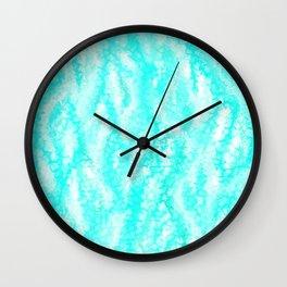Light Blue Ocean Waves Wall Clock