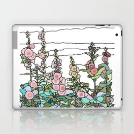 flowers and leaves on white background Laptop & iPad Skin