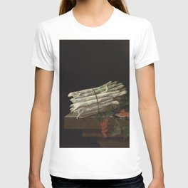 Adriaen Coorte - Asparagus and red currants on a stone ledge T-shirt