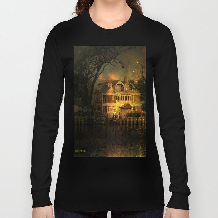 Spooky Boathouse Long Sleeve T-shirt