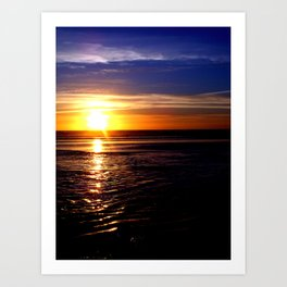 Sinking Sun Art Print