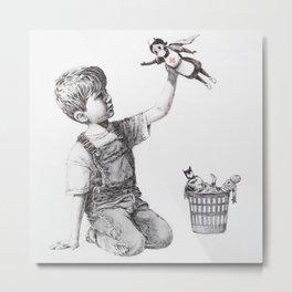 Game Changer Banksy Metal Print