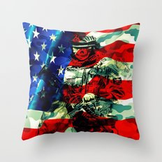 Military Branches of Service Throw Pillow