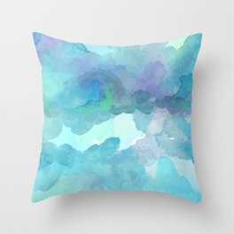 Breathing Under Water (Ocean Clouds) Throw Pillow
