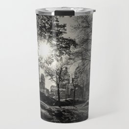 A lovely afternoon in Central Park, N.Y.C. - b/w Travel Mug