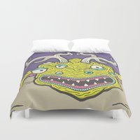 kevin russ Duvet Covers featuring Cube Squid by Kevin Berquist by UCO Design