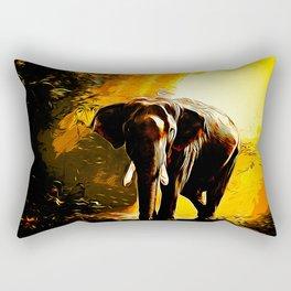elephant jungle sunray va std Rectangular Pillow