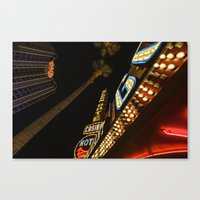 las vegas Canvas Prints featuring Las Vegas by David Cantatore