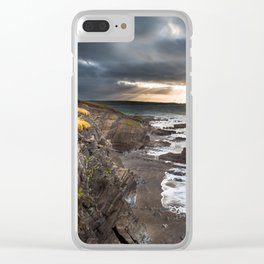 Sunrise on the cliffs Clear iPhone Case