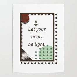 Let Your Heart Be Light Merry Christmas Santa Claus Poster