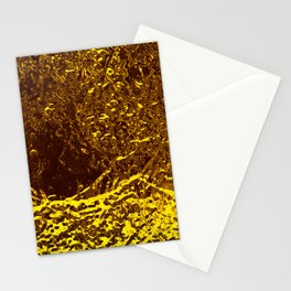 Gold metal texture intricate pattern waves beer fluid abstract background painting Stationery Cards
