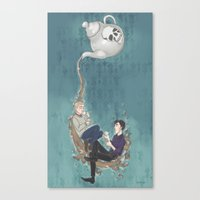 enerjax Canvas Prints featuring Johnlock Teatime by enerjax