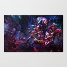 SKT T1 Vayne Jax Zyra Zed Lee Sin Splash Art Wallpaper Official Artwork League of Legends lol Canvas Print