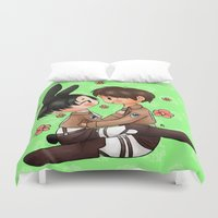 shingeki no kyojin Duvet Covers featuring Bun by Sir-Snellby