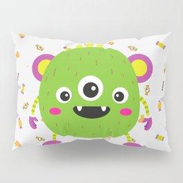 A litle green montr Pillow Sham