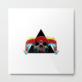 Illuminati Satan - Lucifer Metal Print