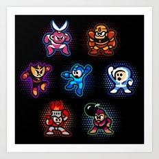 Megaman 1 Art Print