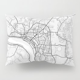 Vientiane City Map of Laos - Light Pillow Sham