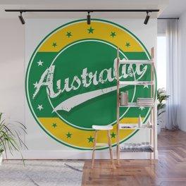 Australia, circle, green yellow Wall Mural