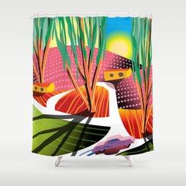 Trip to Elysian Park Shower Curtain